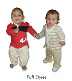 cute babies in stylease fall line