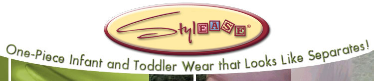 Stylease Logo One-piece infant and toddler wear that looks like separates